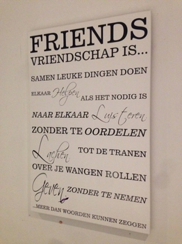 "Tekstbord ""Friends"""