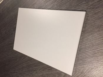Tekstbord blanco, decor Wit